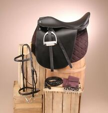Arabian, Morgan..8 Piece....BLACK Cutback Equitation Seat Saddle Package