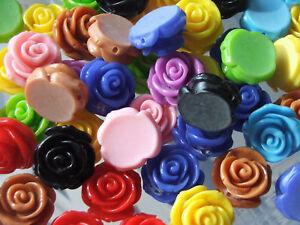 5 x 23mm resin flower beads