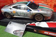 FERRARI 360 Modena Challenge gris # 7 au 1/18 HOT WHEELS 29751 voiture miniature