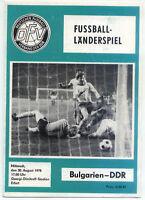 30.08.1978 DDR - Bulgarien (Bulgaria)