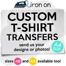 Custom FERRO su T-Shirt Trasferimento A4 la tua immagine foto design personalizzati Hen Stag