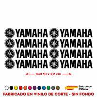 8X PEGATINAS YAMAHA VINILO PACK ADHESIVO LOGO KIT MOTO DECAL 10 CM x 2,2