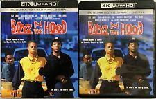 BOYZ N THE HOOD 4K ULTRA HD BLU RAY 2 DISC SET + SLIPCOVER FREE WORLD SHIPPING