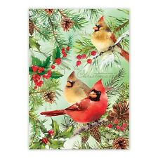 Michel Design Works Cotton Kitchen Tea Towel Christmas Pine Cardinals - NEW