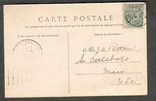 1904 post card Palais Fontainbleau to Provence J A Patton Attleboro MA