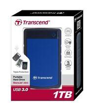 Disco duro portátil azul de alimentación por USB para ordenadores y tablets