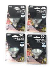 Feit 20W Halogen Landscape Lighting 12V Flood Reflector GU5.3 Lot Of 4