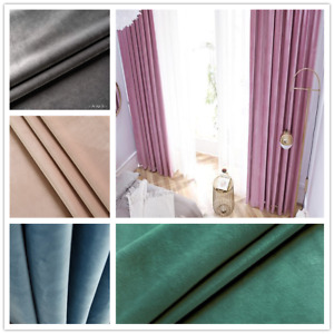 Premium Soft 80% Blockout Fine Velvet Fabric Eyelet Curtain 11 Color options