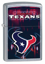 Zippo Street Chrome Lighter With Houston Texans Logo, 28613, New In Box