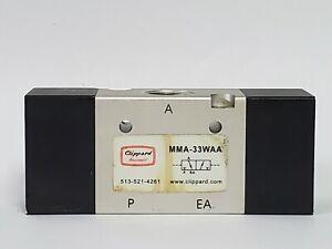 """Clippard MMA-33WAA Maximatic 3/8"""" 3-Way Double Air Pilot Valve"""