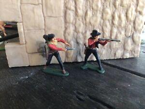 2 cowboys. Original Airfix. plastic 54 mm