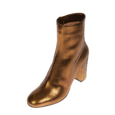RRP €475 L'AUTRE CHOSE Leather Ankle Boots EU 40 UK 7 US 10 Heel Made in Italy