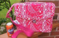 NWT VERA BRADLEY Crossbody Attache-Briefcase Bag in Twirly Birds Pink  NEW