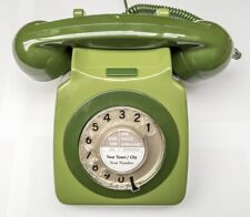 Vintage 1970s Retro GPO 746 Dial Telephone - 2 Tone Green - Fully Refurbished