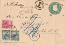 ARGENTINA 1900 UPRATED POSTCARD BUENOS AIRES-BERLIN/ GERMANY