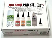 HOT STUFF INSTANT GLUE PRO KIT SATELLITE CA FOR TIP REPAIR FAST FREE SHIPPING