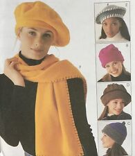 NEW 1998 'MC CALL'S' FASHION ACCESSORIES HATS/SCARF PATTERN 9551 ONE SIZE