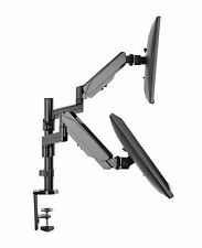 TechOrbits Dual Monitor Mount Stand - Dual Computer Screen Desk Gas Spring Arms
