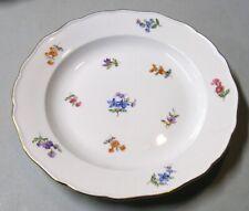 Meissen Scattered Flowers Dinner Plate with Crossed Swords Mark