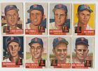 1953+Topps+Lot+%288%29+Boston+Red+Sox