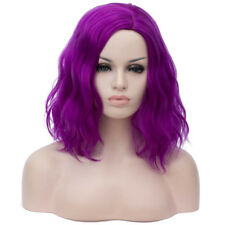 Synthetic Wig Pure Color Middle Part Curly Shoulder Length Short Curly Hair
