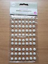10mm perlescenti DECORAZIONI Autoadesivo Decorazione Acrilico cabouchon Pearl