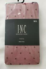 INC International Concepts Women's Swiss-Dot Tights M/L Red