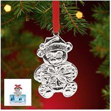 New Lenox Ornaments Teddy Bear Gift Card Holder Silver Metal