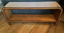 6' KARL SPRINGER Style Custom Made GRASSCLOTH WATERFALL CONSOLE TABLE Modern