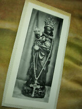 VINTAGE PRAYER BOOK CARD OUR LADY & CHILD WITH CROSS(attached to album page))