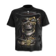 Spiral Direct Steam Punk Reaper Steampunk Skull Black Short Sleeved Tshirt Top