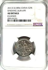AH1313 1895-1896 China Sinkiang 2 Miscal, KM - 17a, L&M - 699, NGC AU Cleaned