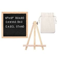 Felt Letter Board 10*10 Inch Changeable Baby Announcement Board 340 Letters Pink
