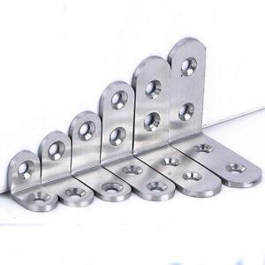 Stainless Steel Right Angle Bracket Corner Brace Joint Shelf Support  L Shape