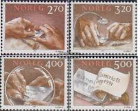 Norwegen 1070-1073 (kompl.Ausg.) postfrisch 1991 Stichtiefdruck