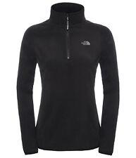 The North Face Womens 100 Glacier Half Zip Fleece Clothing Black M