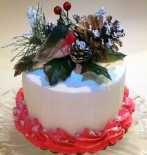 "Christmas Cake Decoration 6"" Fake Faux Cake Red Dezicakes"