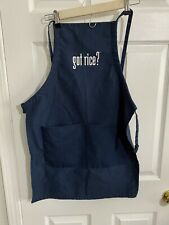 New listing Got Rice? Kitchen Apron - Made in the U.S.A. - Navy Blue Front Pocket Apron
