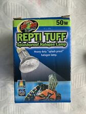Zoo Med Repti Tuff Halogen Tank Lamp 50W Aquatic Turtle Reptile Light Bulb