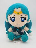 "Sailor Moon A2112 Legit Bandai NEPTUNE Plush 7"" Stuffed Toy Doll Japan Authentic"