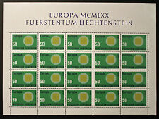 Sello LIECHTENSTEIN Stamp Yvert y Tellier nº477 x20 De Hecho De La Hoja N Y5