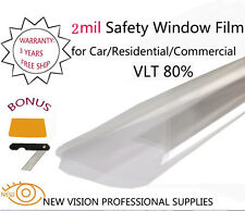 NEWVISION 2Mil VLT80% Security&Safety Solar Window Films 76cmX6m High Quality
