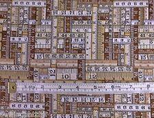 Antique Tape Measures fabric fq 50x56 cm 100/% Cotton Nutex 89740-106