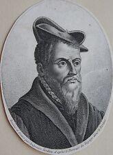 PIERRE BELON, Portrait, gravure 19 ème. Dimensions : 80 mm X 105 mm.
