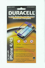 Duracell iPhone 4/4s Screen Protector, (DU2031 Purple)