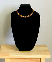 Vintage Necklace Faux Wooden Beads Graduated Collar Length Fun Retro Kitsch Gift