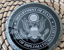 U. S. DEPARTMENT OF STATE, DIPLOMATIC SECURITY SERVICE, PAPERWEIGHT/COASTER