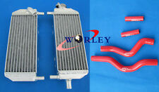 For Suzuki RM250 RM 250 2001-2008 02 03 04 Aluminum radiator & silicone hose RED