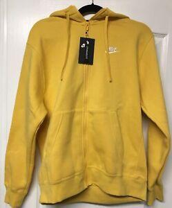 Nike Men's Full Zip Yellow Hoodie Size Medium