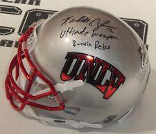 Randall Cunningham Signed UNLV Football Mini Helmet BAS Beckett COA Autograph